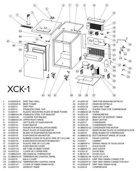 kegerator parts diagram danby kegerator 100 beverage air parts diagram beverage