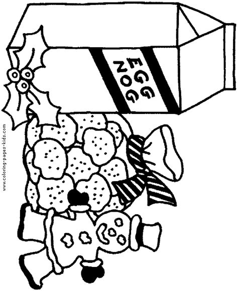 Eggnog Coloring Page   eggnog free colouring pages