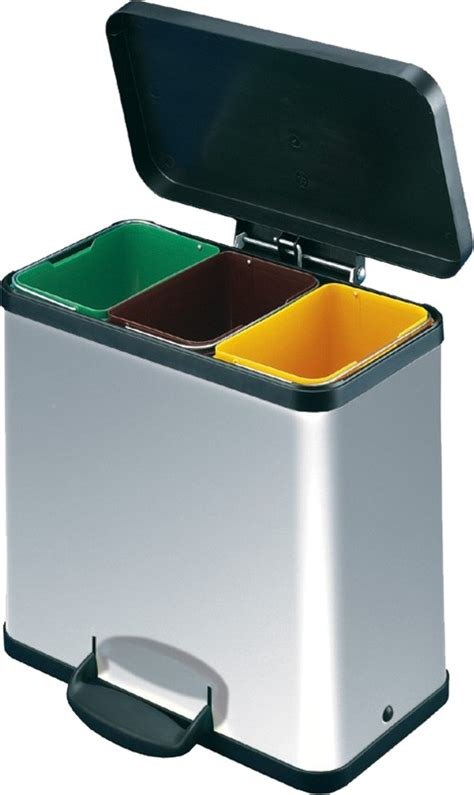 recycling containers for home with chrome recycling