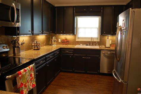 Small Kitchen Remodels Before And After Pictures Kitchen Painted Black Kitchen Cabinets