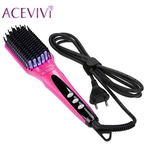electric hair straightening brush aliexpress com buy acevivi digital electric hair
