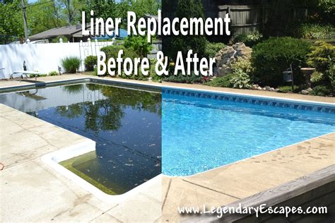 pool light repair cost liner replacement before and after