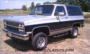 1989 89 chevrolet chevy 4x4 k5 blazer silverado blue and