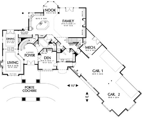 house plan with courtyard garage house design plans
