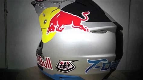 red bull helmet design troy lee designs painting tyler medaglia s red bull helmet
