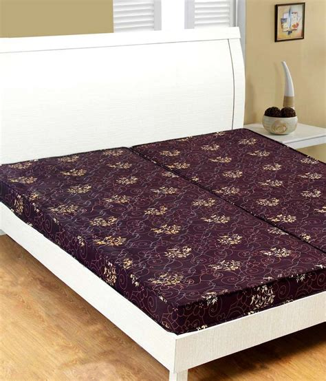 Single Quilt Size Inches by Fablooms Single Size Brown Single Quilt Hd Foam Mattress