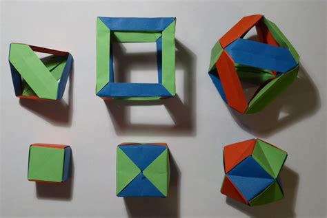 Origami Tetrahedron - modular origami balls and polyhedra folded by micha蛯