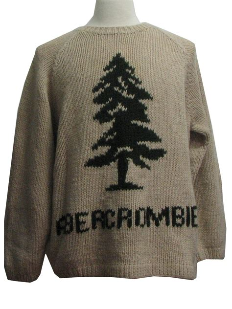 abercrombie and fitch reindeer sweater 1990 s mens minimalist ugly christmas sweater 90s