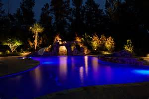 Pool Landscape Lighting Low Voltage Landscape Lighting Tropical Pool By Edge Landscape Design