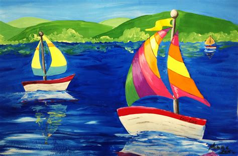 boat paint pictures space and claude monet sailboat art lesson create art