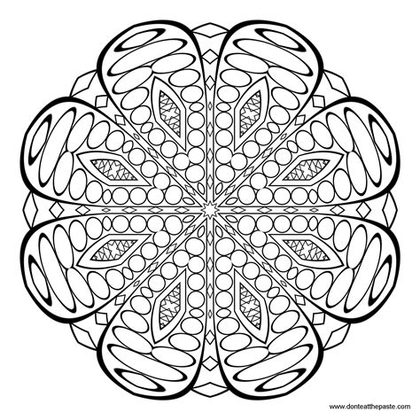 coloring pages patterns mandala don t eat the paste pattern and mandala coloring page