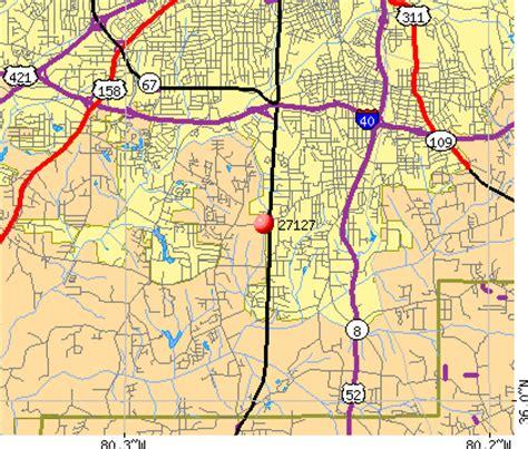 zip code map kernersville nc winston salem zip code map