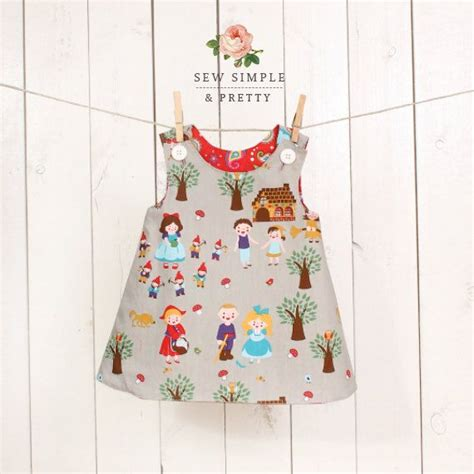 pattern dress child girls a line dress pattern easy toddler reversible dress