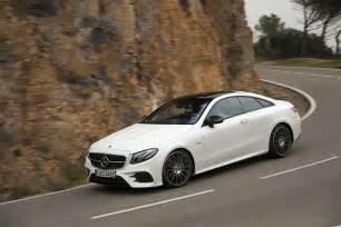 2018 mercedes e400 coupe front three quarter in