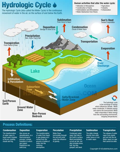 water diagram the hydrologic cycle water cycle h2o distributors
