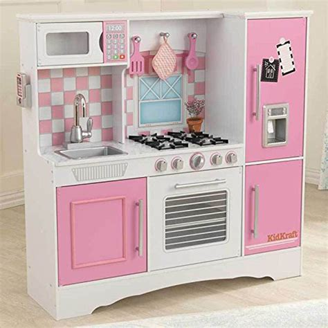 kidkraft modern country kitchen wooden play kitchens delightful play kitchens made from wood