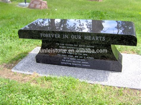 black granite bench for cemetery funeral cemetery bench headstones benches buy granite