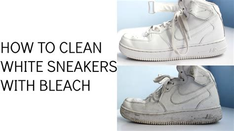 what can you use to clean a leather couch how to clean white sneakers with bleach youtube