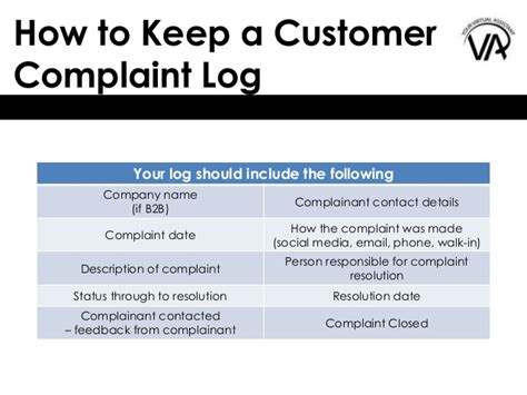 customer complaint procedure template how to keep a customer complaint log and why