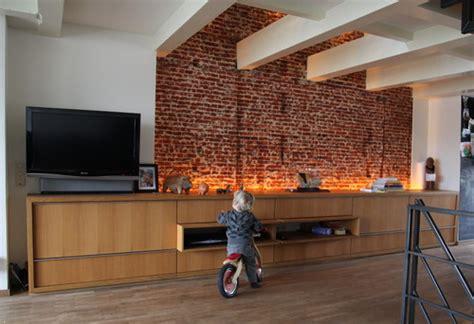 exposed brick wall lighting designwali exposed brick beauty