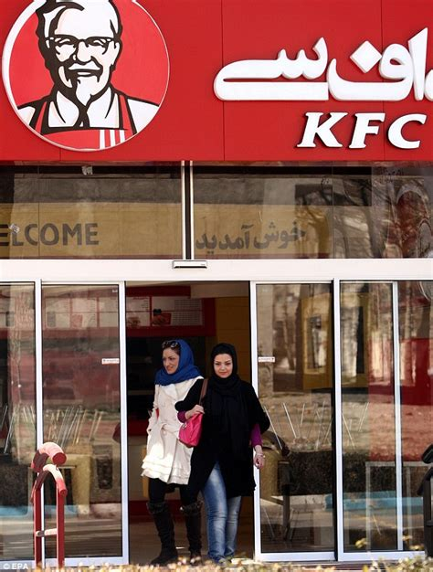 is kfc open iran kfc opens branch in 30 years daily mail