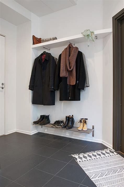 ikea entryway closet spacious apartment in sweden features charming details