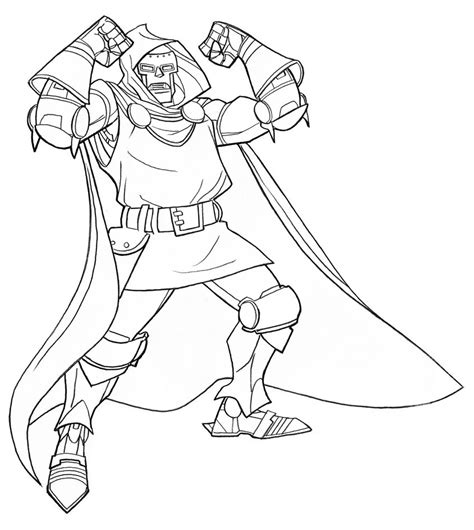 Doctor Doom Coloring Page | doctor doom coloring pages coloring pages