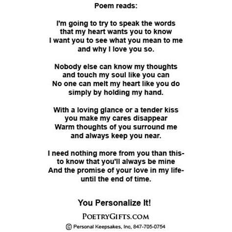 Wedding Album Poem by Poem Photo Album Two Hearts