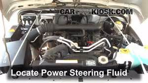 Jeep Liberty Power Steering Fluid Power Steering Leak Fix 1997 2006 Jeep Wrangler 2004