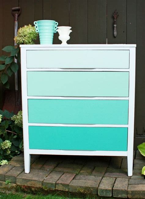 dwell of decor brilliant turquoise furniture and painting ombre painted dressers put color into perspective