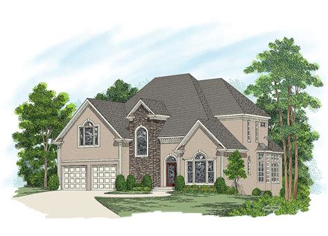 Stucco Home Plans by European Stucco Home Plan 20019ga Architectural