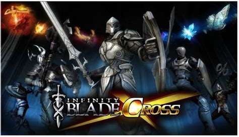infinity blade logo infinity blade cross now available on mobage for ios in