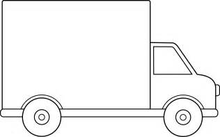 Truck Outline by Delivery Truck Line Free Clip