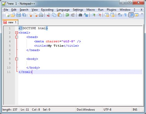 format html tags in notepad your first web page in html build your website with