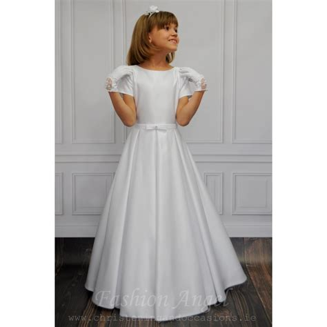 simple elegant handmade  holy communion dress style demi