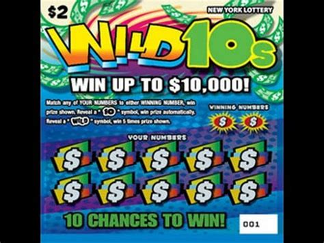 Free Instant Win Scratch Tickets - 2 wild 10 s ticket from nys lottery lottery scratch