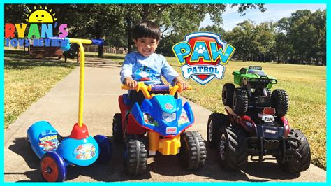 paw patrol power wheels playtime at the park with paw patrol power wheels and