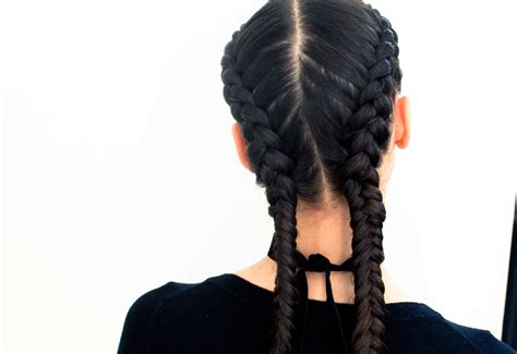 how to do two french braids with weave the boxer braid aka double french braid a how to coveteur