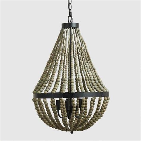 Wood Bead Chandelier Small Wood Bead Chandelier World Market