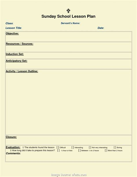 blank lesson plan template bio letter format