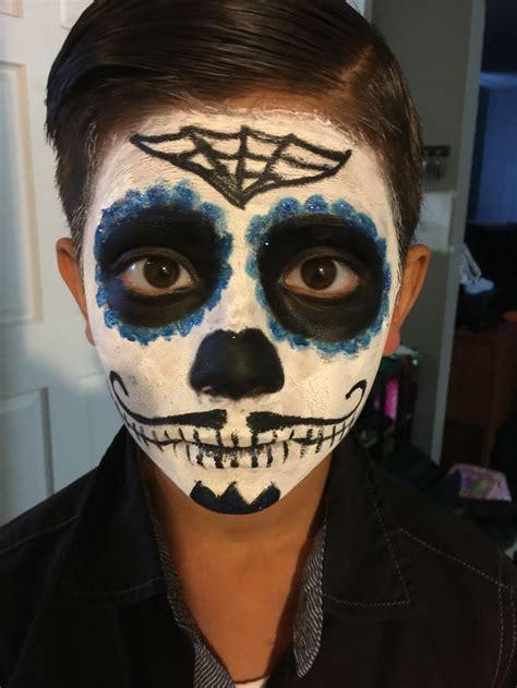 day   dead  de los muertos makeup  boys