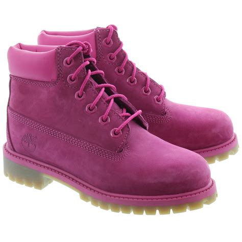 Boots Pink timberland authentic 6 inch lace boots in pink in pink