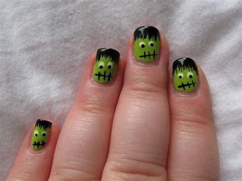 halloween frankenstein nail art 50 cool halloween nail art design ideas