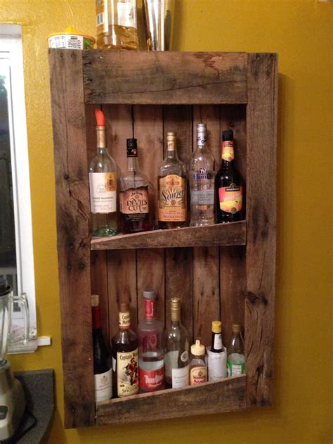 where to buy a liquor cabinet diy pallet wine and liquor shelf my primitive home
