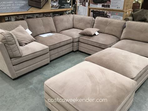 modular sectional sofa bainbridge 7 piece modular fabric sectional costco weekender