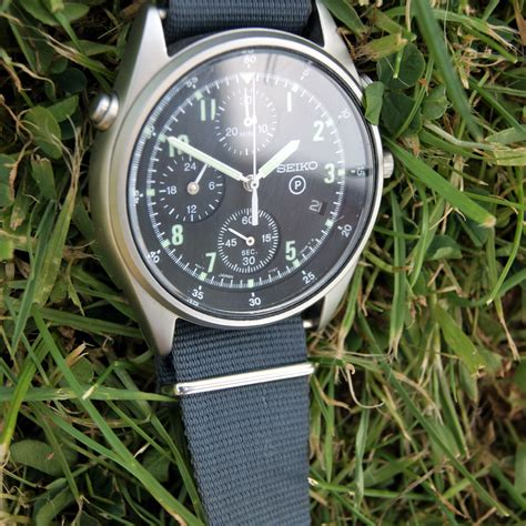 1997 seiko generation 2 issued raf helicopter jet fighter pilot s chronograph