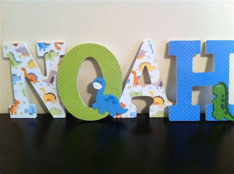 Wooden Letters Nursery Letters And Dinosaurs On Pinterest Nursery Decor Letters