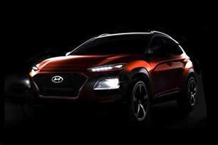 Hyundai Looks Like Mercedes Hyundai Kona Previewed One Last Time Debuts June 12