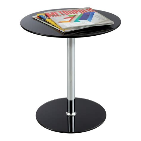 Glass Accent Table Glass Accent Table Black Safco Products