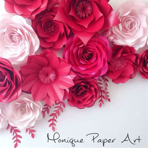 Large Paper Flowers - shades of pink large paper flowers wedding floral